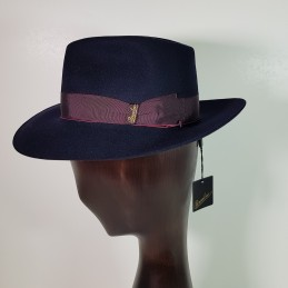 Borsalino in blue felt with...