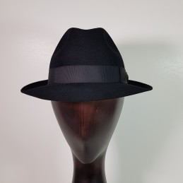 Borsalino in black felt,...