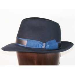 Borsalino in navy felt blue...