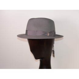 Borsalino in ice grey felt