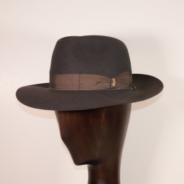 Gray felt Borsalino with...